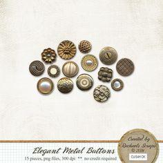 Elegant Metal Buttons