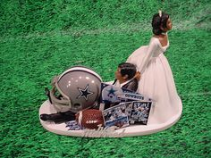 african american football wedding cake toppers bald hispanic black american groom and 10595