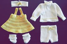 doll clothes patterns knitting - Your doll will be the belle of the ball in her new beautiful outfit Baby Doll Clothes, Doll Clothes Patterns, Doll Patterns, Clothing Patterns, Crochet Doll Dress, Knitted Dolls, Crochet Clothes, Knit Crochet, Knitting Patterns Free