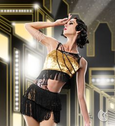 """Curtain Call Costumes® - Jazz Age Gatsby/Roaring 20's tap and jazz dance costume Great costume for """"Get It Right"""" by Fantasia"""