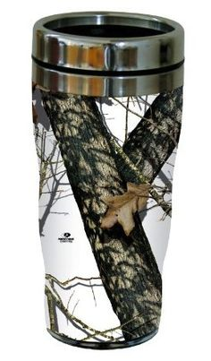 16-Ounce Stainless Steel Mossy Oak Camouflage Travelers Cup