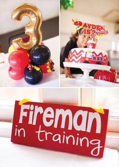 Modern Fire Truck Party {Chevron & Polka Dots}