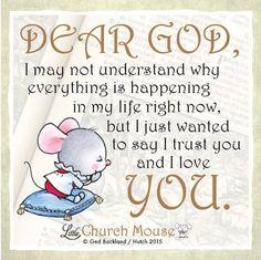 I have faith! #LittleChurchMouse