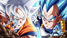 Goku e vegeta final dragon Ball super Dragon Ball Z, Dragon Ball Image, Vegeta Ssj Blue, Goku Vs, Gif Naruto, Super Manga, Goku Ultra Instinct, Manga Dragon, Animation