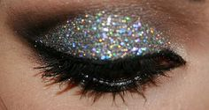 That's glitter babe! Great party look!