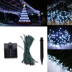 AGPtek® 33 Feet Solar Power String Fairy Light for Christmas Party Celebration Occasions - White Larger Solar Panel . Simple to use for no hassle lighting. 60 LED at spacing . Led Rope Lights, String Lights Outdoor, Solar Lights, Fairy Lights, Flameless Candles With Timer, Fiber Optic Christmas Tree, Christmas Minis, Light Project, Solar Power