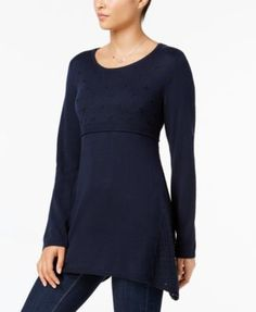 ddd2ad1e4 Style & Co Embroidered Sweater Tunic, Created for Macy's & Reviews -  Sweaters - Women - Macy's