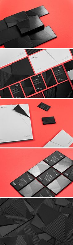 EXO, The French Architect Firm, Black Business Card Design