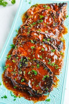 Balsamic Honey and Mustard Pork Chops Recipe : Juicy pork chops in a tasty balsamic, honey and mustard sauce with a hint of blackberries that are so quick and easy to make and so tasty that you'll be making them all the time! Pork Chop Recipes, Meat Recipes, Dinner Recipes, Cooking Recipes, Recipies, Marinade Porc, Pork Chop Marinade, Honey Mustard Pork Chops, Mustard Chicken