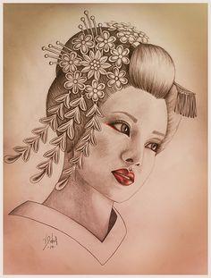 Geisha by Melina-van-der-Werf on DeviantArt