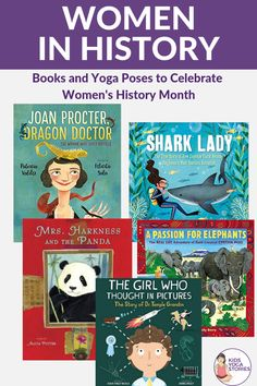 Celebrate Women's History Month with Yoga and Books! Learn about famous women in history and celebrate via stories and yoga poses based on their work. Kids Yoga Poses, Yoga For Kids, Thinking In Pictures, Animal Yoga, Yoga Themes, Kindness Activities, Yoga Books, Children's Picture Books, Women In History