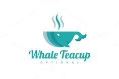 For sale. Only $29 - animal, hot, coffee, ocean, water, food, fish, sea, café, drink, whale, cup, swim, aquarium, marine, tea, salt, soup, flavor, fin, bowl, restaurant, cafeteria, tearoom, relaxation, eat, spa, teal, logo, design, template,