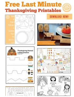 60 Last Minute Free Thanksgiving Printables from Kids Activities Blog