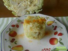 Receta de col con patatas asadas a la cúrcuma