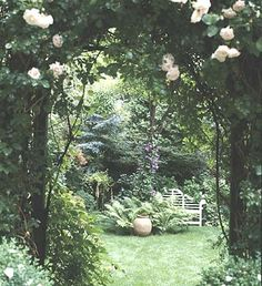 this is a great article- making a special secluded spot in your yard