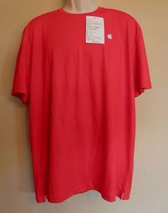 NEW Apple Retail Employees T-Shirt Red Mens Extra Large XL Embroidered with Tags #Apple #BasicTee