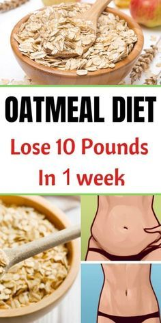 Oatmeal Diet Plan To Lose up 10 Pounds In 1 Week - Diet abnehmen - Diat Rezepte Oatmeal Diet, Oats Diet, Diet Recipes, Healthy Recipes, Smoothie Recipes, Healthy Meals, Diet Meals, Healthy Cereal, Diet Snacks