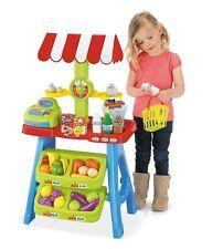 Brinquedo Caminhão Mercado fingir Playset Caixa Registradora Frutas Kids Play comida dinheiro Novo