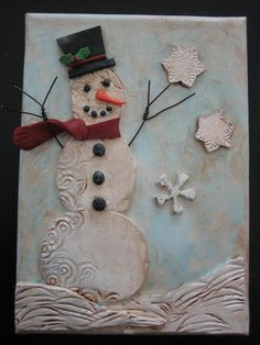 Cute Vintage looking Polymer Clay Christmas Ornament.