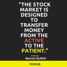 #FinancialWednesday #Yeihub #WarrenBuffet #StockMarket #Investment #FinancialIntelligence #FinancialFreedom #Investments #MoneyMarket   Investing is a game of patience