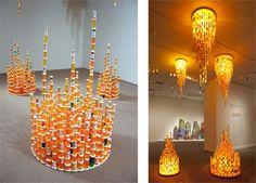 simetrik tarz modern sarkıt aydınlatma