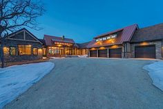 The Most Expensive Houses For Sale In Canada, June 2014 Edition. Manitoba: $3.5 million  This timber-framed, open concept house includes individual bedroom wings, a sunroom, a deck and gourmet kitchen. The living and dining areas are separated by a double-sided fireplace. The listing boasts that it the property is surrounded by natural beauty, but urban conveniences are not far away.