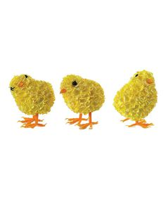 Floretta Chick Figurine - Set of Three