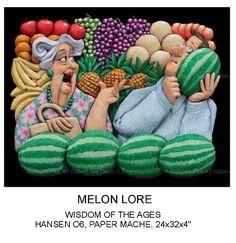 Image > Stephen Hansen sculpture - Melon Lore