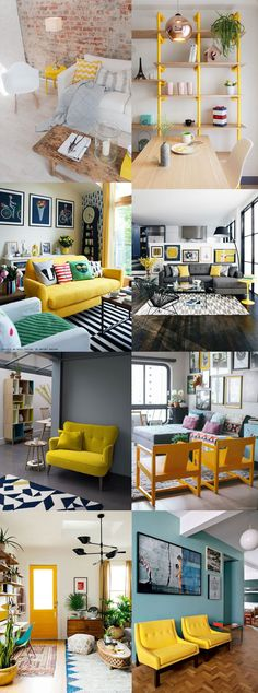 Grey and yellow decorating ideas
