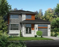 Plan image used when printing Surface Habitable, Construction, Plans, Facade, Restoration, Garage Doors, Sweet Home, Exterior, Cabin