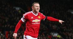 Wayne Rooney of Manchester United celebrates scoring his team's third goal during the Barclays Premier League match between Manchester United and Stoke City at Old Trafford on February 2016 in. Get premium, high resolution news photos at Getty Images Premier League Teams, Premier League Champions, Barclay Premier League, Premier League Matches, Manchester United Live, Manchester United Football, Manchester England, Liga Premier, Hull City