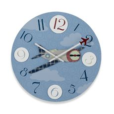 Airplane Clock - Bed Bath & Beyond Airplane Bedroom, Airplane Decor, Nursery Room, Boy Room, Kids Bedroom, Aviation Theme, Bedroom Themes, Bedroom Ideas, Patchwork Designs