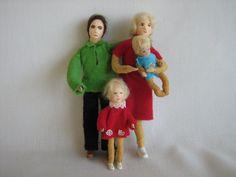 Vintage ERNA MEYER Dollhouse Dolls  German Family of by TheToyBox