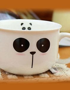 Cute Panda Taza, 8oz Porcelana
