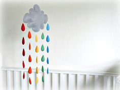 Etsy, rainbow cloud mobile