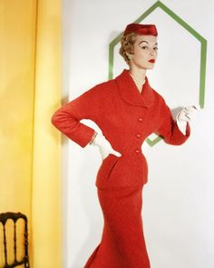 Jean Patchett in Dior, photo by Horst P. Horst, September 1953.