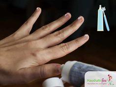 Fingernägel mit Zahnpasta reinigen. Zahncreme im Haushalt nutzen, 18 überraschende Tricks.