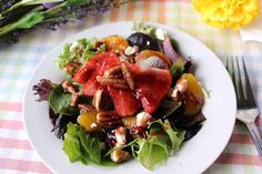 Spring Salad with Fruit, Feta and Pecans