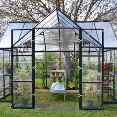 Found it at Wayfair - Chalet Twin Wall 12 Ft. W x 10 Ft. D Polycarbonate Greenhouse
