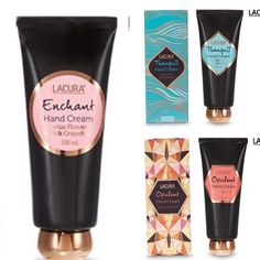 Hand Cream. 100ml for $4.99! In store December 9! 🎄 Enchanted Hands, Massage For Headache, Hand Cream, Kitchen Ideas, December, Lipstick, Photo And Video, Store, Beauty
