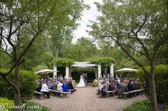 The first day of their married life began in a garden. #gardenwedding #outdoorwedding #wellersweddings #gazebo #springwedding #memorialdayweekend #detroit #militarywedding