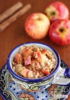 Receta de avena con manzana, miel y canela. Con fotografías paso a paso…
