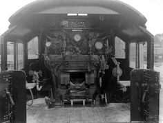 Steam locomotive cab interior Industrial design that moves