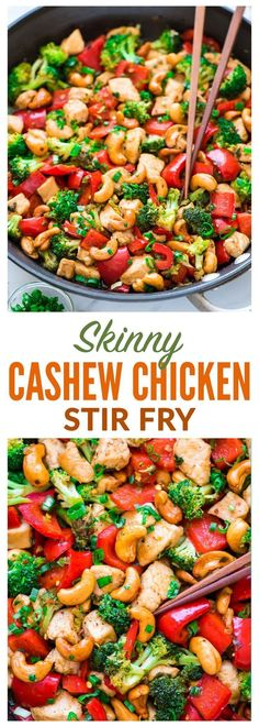 Skinny Honey Thai Cashew Chicken Ready in 20 minutes! Juicy chicken, crisp veggies, and the best sweet and savory sauce Easy, healthy recipe perfect for busy weeknights Recipe at wellplatedcom Well Plated - # Asian Recipes, New Recipes, Cooking Recipes, Best Healthy Recipes, Recipies, Healthy Stirfry Recipes, Chicken Stirfry Recipes, Pinterest Healthy Recipes, Best Dinner Recipes Ever