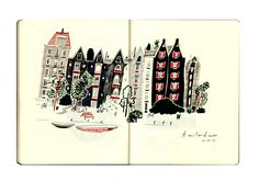 Nina Cosford sketchbook page - amsterdam