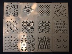 Acrylic Stencil for Sashiko - 12 types There are 12 types of Sashiko Stencil - Size: x x x x - Gap width: - Material: Transparent Acrylic - Use this stencil For Quilting and Japanese SASHIKO Hand Embroidery - You can use Erasable Marker Pen