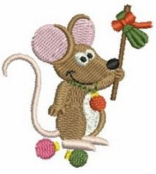 Mini Christmas Mice 5 | Mini Designs | Machine Embroidery Designs | SWAKembroidery.com Ace Points Embroidery