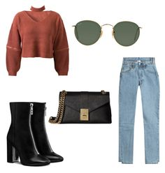 """""""Untitled #216"""" by ninaellie on Polyvore featuring WithChic, Vetements, Ray-Ban and Calvin Klein"""