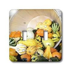 Abundance- Squash- Vegetables- Food- Photography - Light Switch Covers - double toggle switch