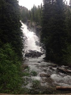 Hidden Falls at Jenny Lake- Grand Tetons National Park- Wyoming